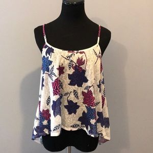 Zara size medium floral tank top w/ pretty back